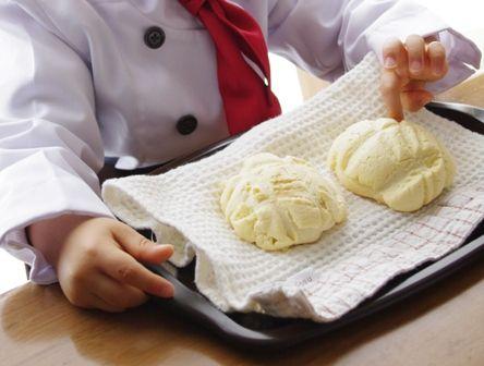 子どもとつくるメロンパン2歳の出来