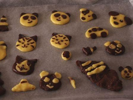 ホットケーキミックスでつくる簡単2色デコクッキー08
