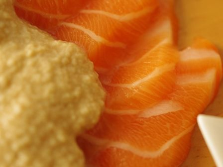 ノルウェーサーモンのお豆腐ソースa