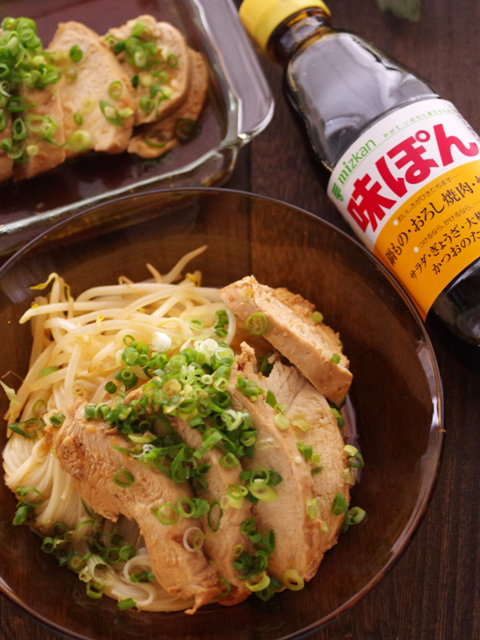 味ぽんで簡単さっぱり鶏チャーシュー温素麺08
