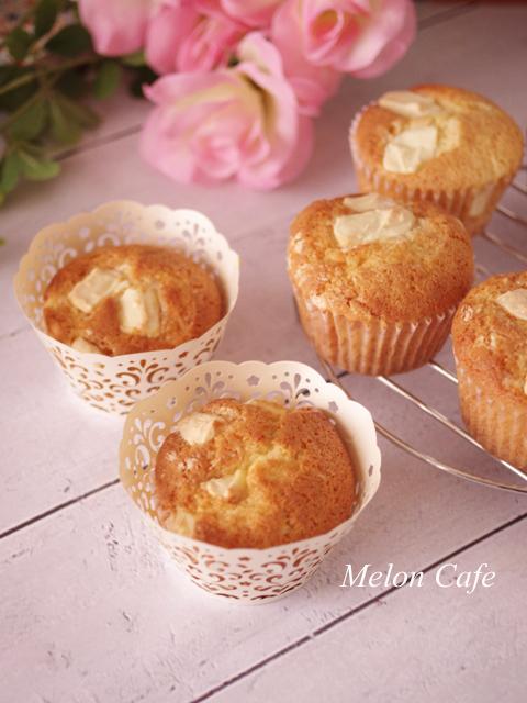 ホワイトチョコの母の日カップケーキ