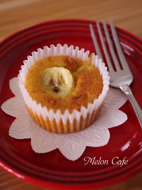 簡単はちみつバナナのカップケーキ