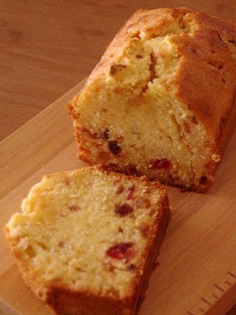 フルーツぎっしりパウンドケーキ(レシピ)