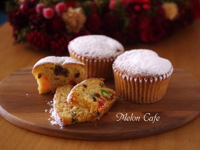 ホットケーキミックスでカップケーキの簡単クリスマスシュトレン00