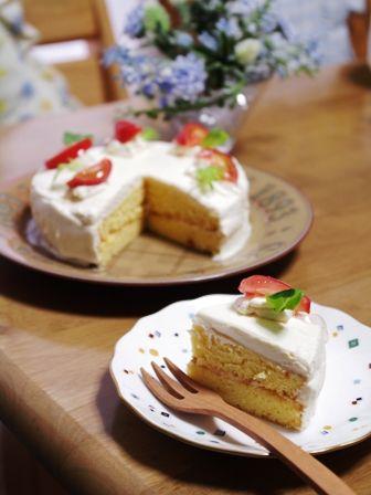 トマトのサラダケーキ