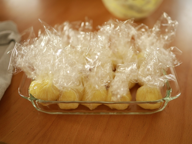 片栗粉とレンジで簡単芋蒸しようかん11