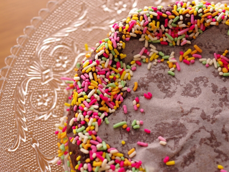 半生ガトーショコラでお誕生日のケーキ02
