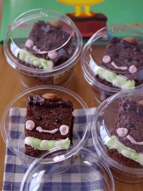 簡単本格チョコレートブラウニープリンちゃんとブラウニーとうさん03