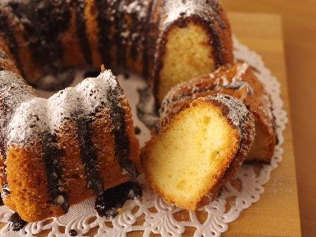 バレンタインのチョコレートとバニラのハートケーキ00