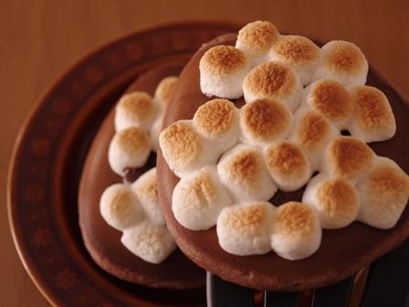 焼きマシュマロのチョコレートホットケーキ04