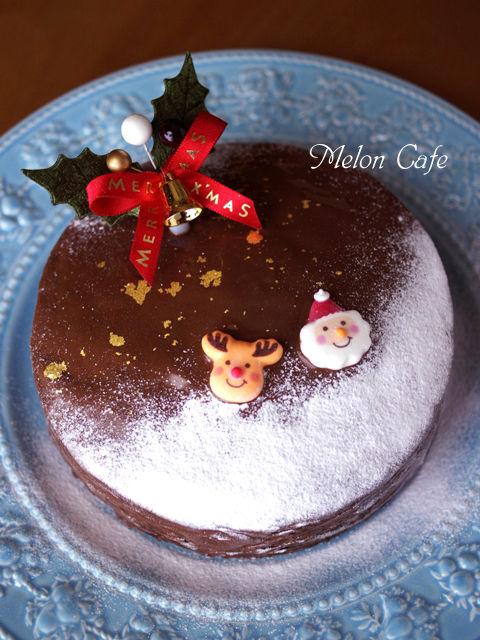 ホットケーキミックスで作る超簡単クリスマスケーキチョコレートケーキ