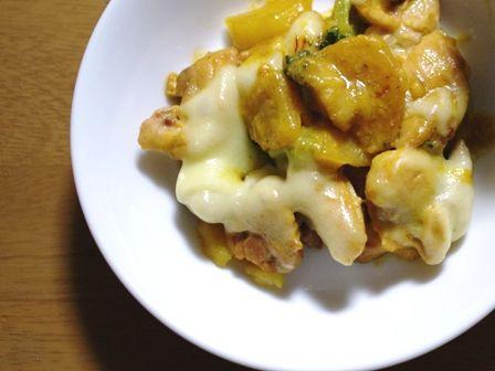 鶏肉のみそチーズ焼きサフラン使用