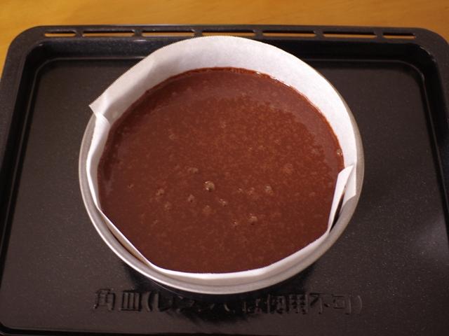 パーティ用ホールケーキのガトーショコラ粉なし08