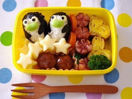 ペンギンおにぎりのお弁当