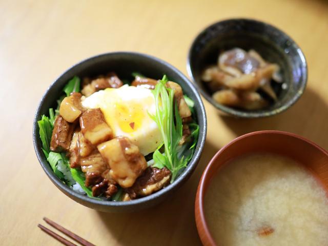 缶詰で角煮丼_02