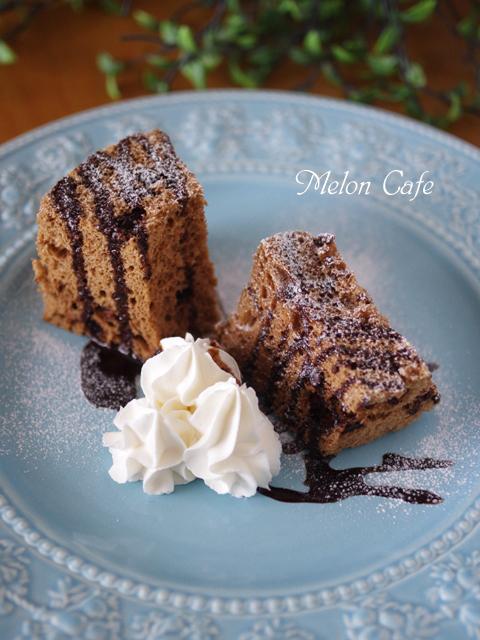 レンジで超簡単ココアシフォンケーキ