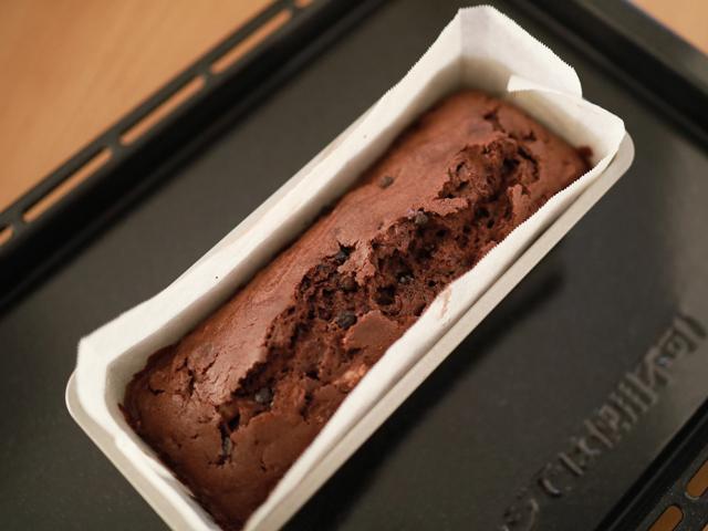 簡単チョコバナナのパウンドケーキ05