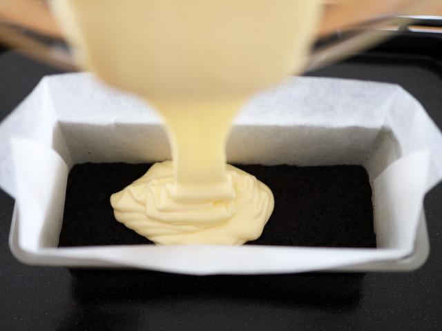 カラメル仕上げのチーズケーキ08