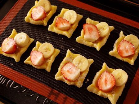 ホットケーキミックスで簡単デニッシュパンいちごとバナナ04