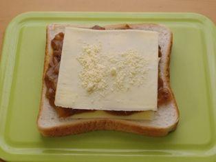 簡単チーズのカレートースト03