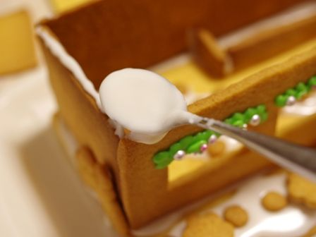 2015クリスマスのヘクセンハウスお菓子の家06