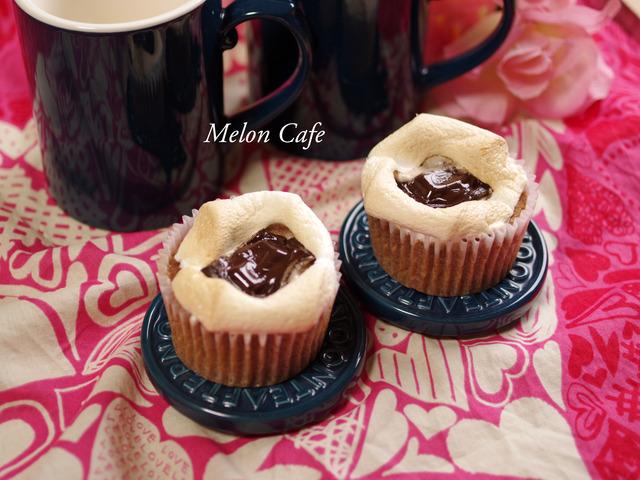 ホットケーキミックスでバレンタインのカフェスモアケーキ00
