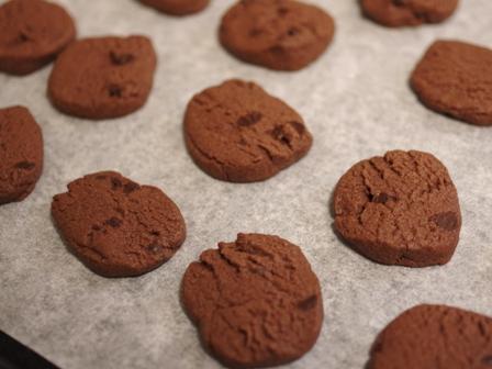 超簡単に大量生産のチョコチップ入りココアクッキー03