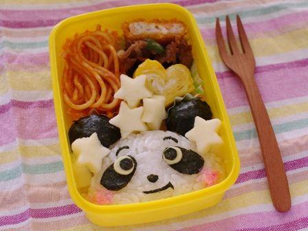 簡単パンダのキャラ弁当