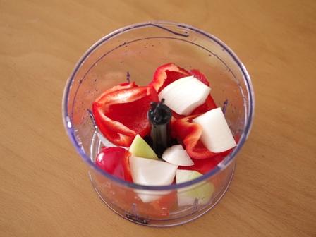 ハンブレで簡単時短パプリカとトマトのポタージュスープ04