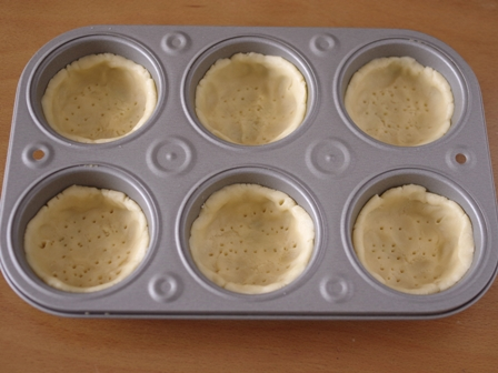 ホットケーキミックスで簡単チーズカスタードタルト02