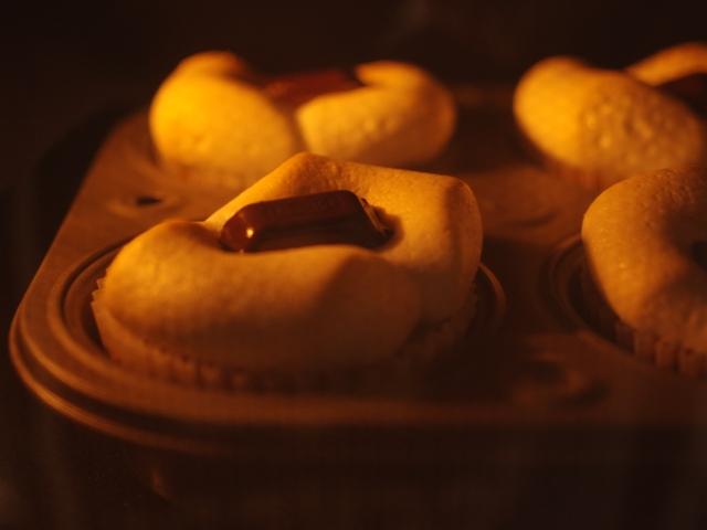 ホットケーキミックスでバレンタインのカフェスモアケーキ07