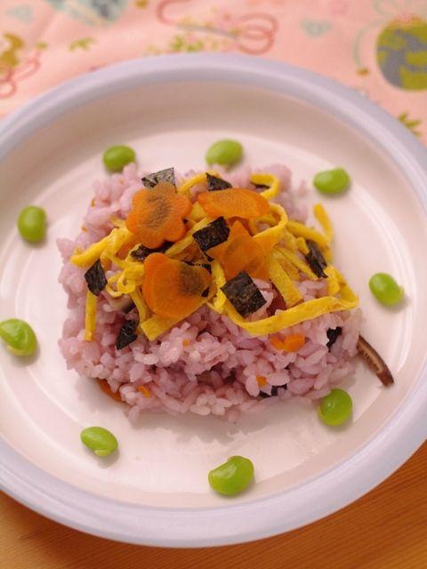 岡山勝英郷土料理から黒大豆のちらしずし弁当b