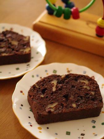 チョコレートのフルーツパウンド