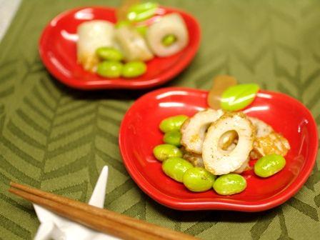 ちくわと枝豆の超簡単おつまみ花椒ホアジャオ