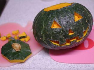 ジャックオーランタンのまるごとかぼちゃケーキd