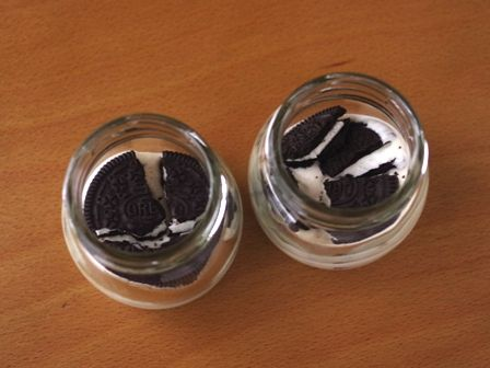 オレオとマスカルポーネで作るチョコスモアジャーケーキ02