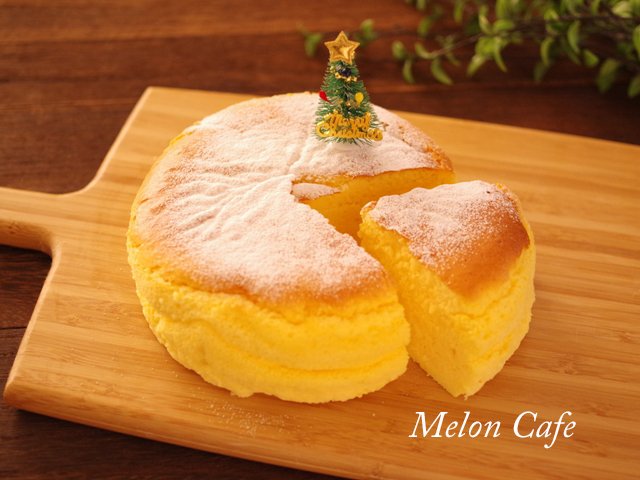 簡単シンプルなスフレチーズケーキ
