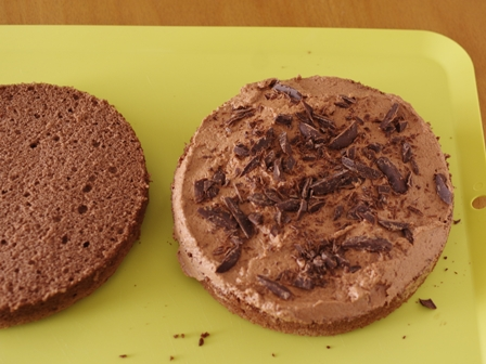 チョコレートのクリスマスケーキ06