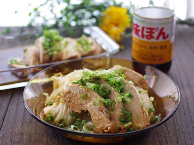 味ぽんで簡単さっぱり鶏チャーシュー温素麺