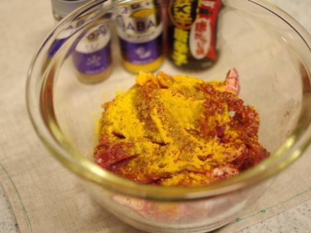豚ロースのピリ辛ターメリック焼き01