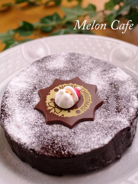 ガトー・オ・ショコラのクリスマスケーキa