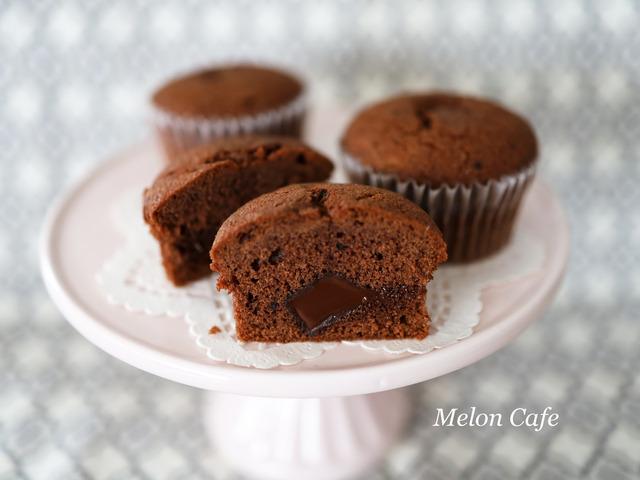簡単チョコレート入りココアケーキ