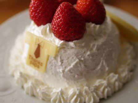 レンジでショートケーキ