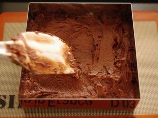 チョコレートガナッシュのクリスマスケーキ07
