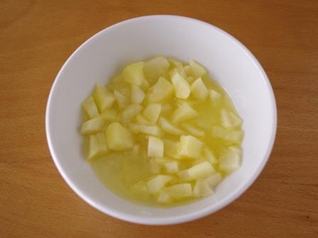 りんごの簡単スクエアケーキ01