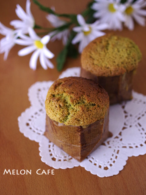 マロンペーストでつくる抹茶のカップケーキ