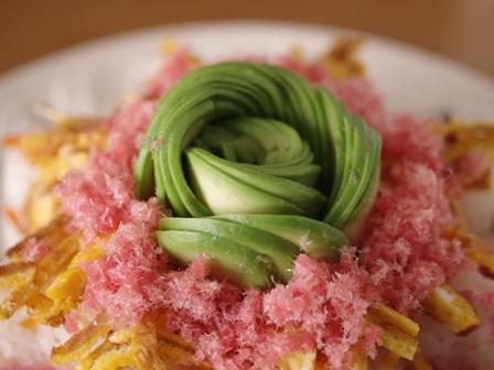 ひな祭りの寿司ケーキ03