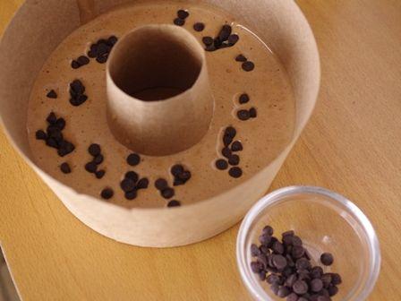 レンジで簡単ホットケーキミックスのココアシフォンケーキチョコチップ入り05