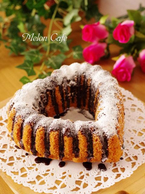 バレンタインのチョコレートとバニラのハートケーキa