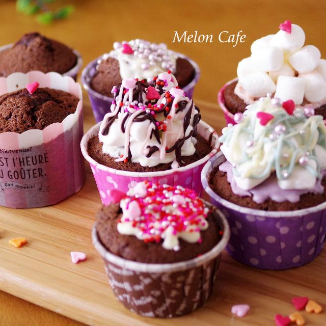 HMでダブルチョコのカップケーキinsta